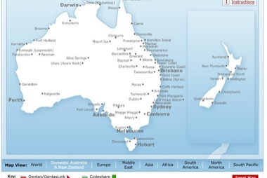 Qantas route maps